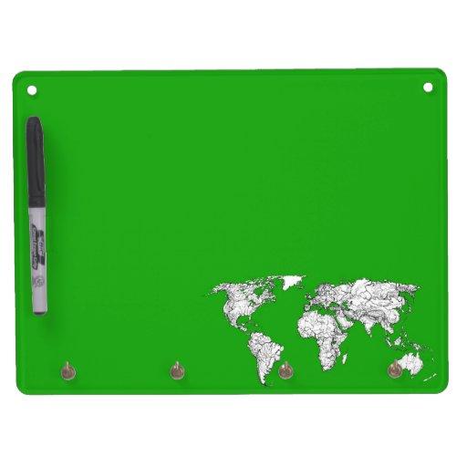 Mapa verde claro pizarra