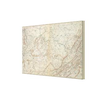 Mapa VI de la GEN Impresión De Lienzo
