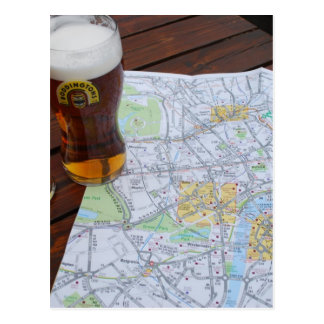 Mapa viaje de Londres, Inglaterra - de Europa al R Postales