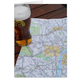 Mapa viaje de Londres, Inglaterra - de Europa al R Tarjeta De Felicitación