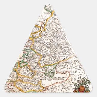 Mapa viejo 0003 pegatina triangular