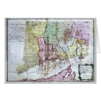 Mapa viejo 1766 de Connecticut Tarjeta De Felicitación