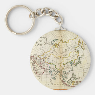 Mapa viejo 1799 de Asia Llavero Redondo Tipo Pin
