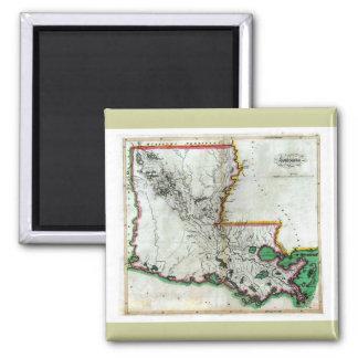Mapa viejo 1814 de Luisiana Imán De Frigorifico