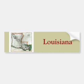 Mapa viejo 1814 de Luisiana Pegatina Para Auto