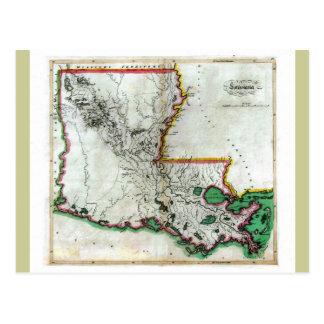 Mapa viejo 1814 de Luisiana Postales