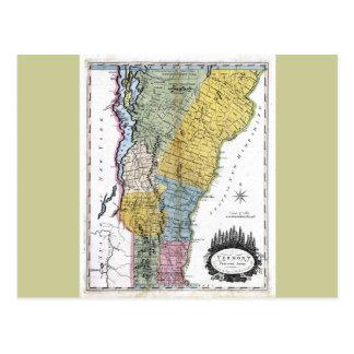 Mapa viejo 1814 de Vermont Postal