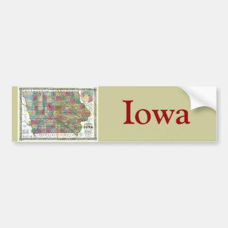 Mapa viejo 1856 de Iowa Pegatina Para Auto