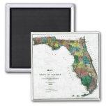 Mapa viejo 1856 de la Florida Imán