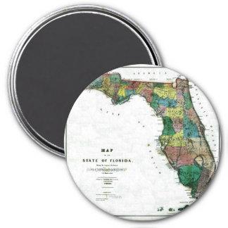 Mapa viejo 1856 de la Florida Iman