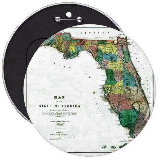 Mapa viejo 1856 de la Florida Pin