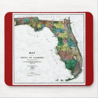 Mapa viejo 1856 de la Florida Tapete De Raton