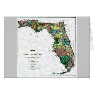 Mapa viejo 1856 de la Florida Tarjetas