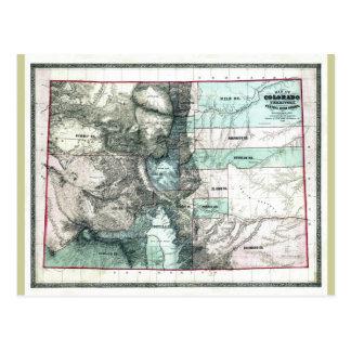 Mapa viejo 1862 de Colorado Postales