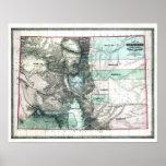 Mapa viejo 1862 de Colorado Posters