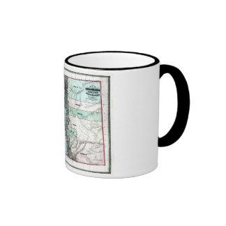 Mapa viejo 1862 de Colorado Tazas De Café