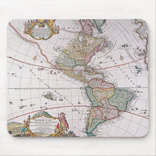 Mapa viejo América Alfombrilla De Ratones