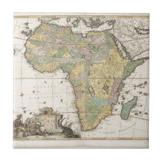 Mapa viejo azulejo cuadrado pequeño