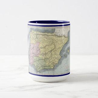 Mapa viejo de Afrimex Urbano de la taza de América