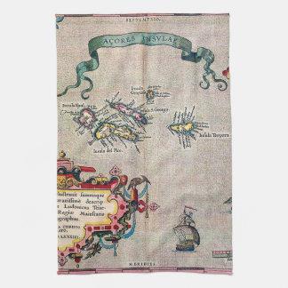 Mapa viejo de Azores - exploración de la Toalla