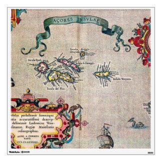 Mapa viejo de Azores - exploración de la Vinilo Adhesivo