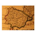 Mapa viejo de España Tarjeta Postal