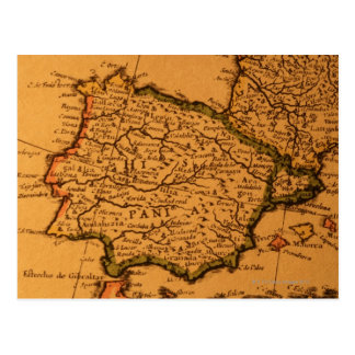 Mapa viejo de España Postales
