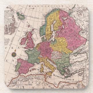 Mapa viejo de Europa Posavasos