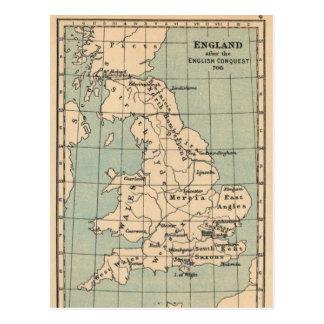 Mapa viejo de Inglaterra Tarjeta Postal