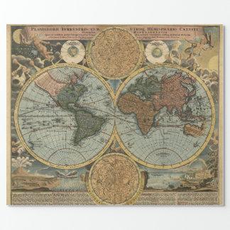 Mapa viejo de la cartografía antigua del vintage papel de regalo