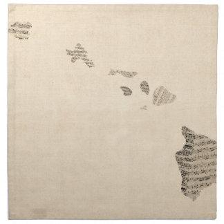 Mapa viejo de la partitura de Hawaii Servilletas De Papel