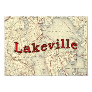"Mapa viejo de Lakeville Massachusetts Invitación 5"" X 7"""