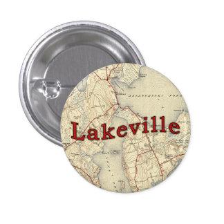 Mapa viejo de Lakeville Massachusetts Pin Redondo 2,5 Cm