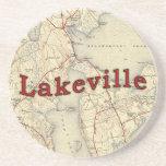 Mapa viejo de Lakeville Massachusetts Posavasos Para Bebidas
