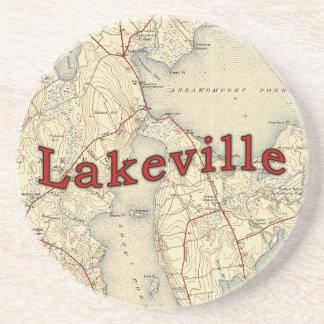 Mapa viejo de Lakeville Massachusetts Posavasos De Arenisca