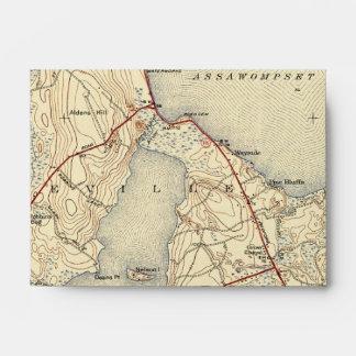 Mapa viejo de Lakeville Massachusetts Sobres
