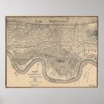 Mapa viejo de New Orleans Impresiones