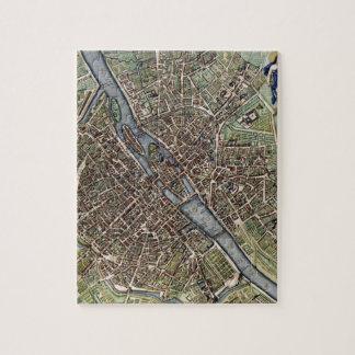 Mapa viejo de París del vintage shabbychic Rompecabeza