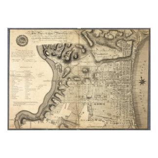 Mapa viejo de Philadelphia Pennsylvania a partir d Fotografías