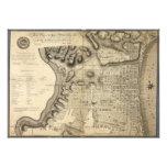 Mapa viejo de Philadelphia Pennsylvania a partir d Impresión Fotográfica
