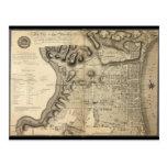 Mapa viejo de Philadelphia Pennsylvania a partir d Tarjetas Postales