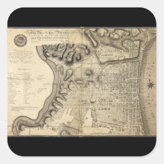 Mapa viejo de Philadelphia Pennsylvania a partir Colcomania Cuadrada