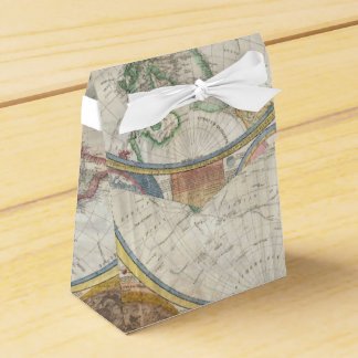 Mapa viejo del mundo cajas para regalos de boda
