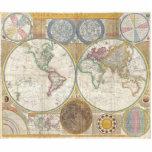 Mapa viejo del mundo esculturas fotográficas