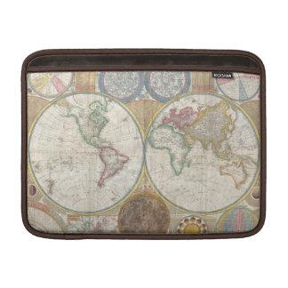 Mapa viejo del mundo fundas macbook air