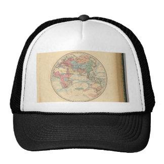 Mapa viejo del mundo gorros bordados