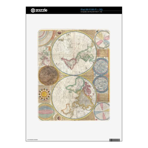 Mapa viejo del mundo skin para el iPad