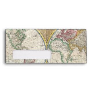 Mapa viejo del mundo