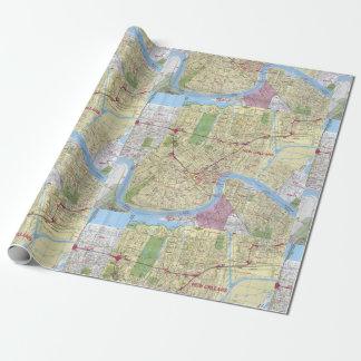 Mapa viejo del vintage de New Orleans Papel De Regalo