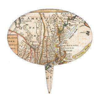 mapa viejo del vintage de Nueva York América Decoración De Tarta
